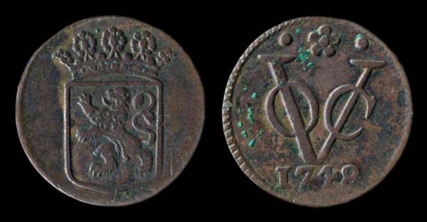 INDONESIA VOC 1 duit 1748 Holland mint