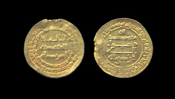 ABBASID CALIPHATE gold dinar 323 AH (935 AD) Misr (Egypt) mint