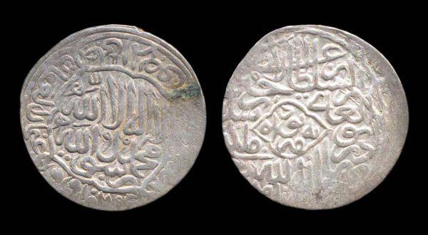TIMURID Husein Bayqara 1469-1506 AD silver tanka 885 AH (1480 AD) Herat mint