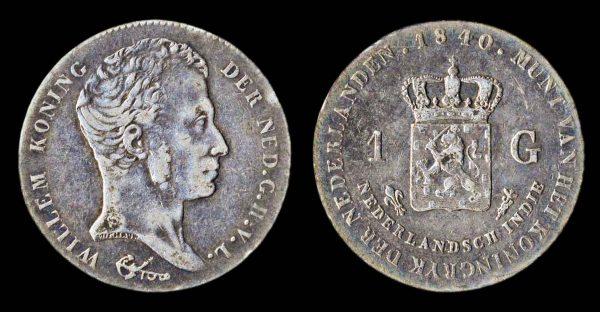 NETHERLANDS INDIES gulden 1821