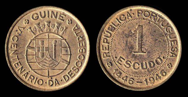 PORTUGUESE GUINEA 1 escudo 1946