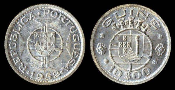 PORTUGUESE GUINEA 10 escudos 1952