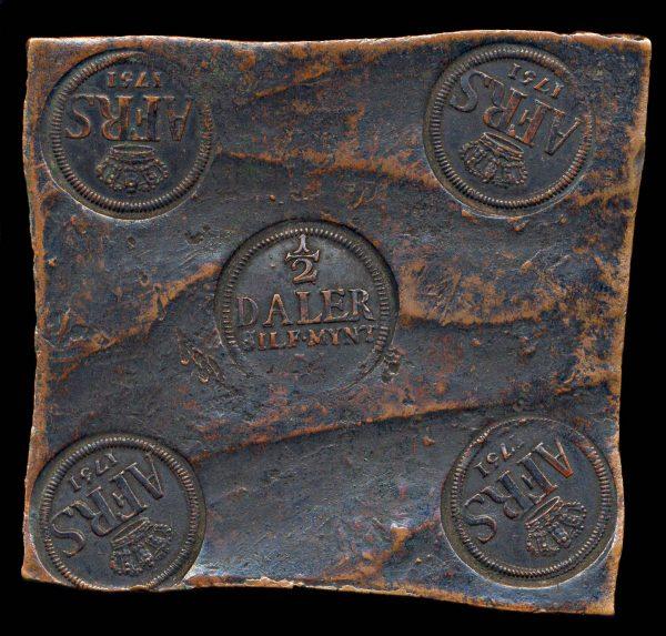 SWEDEN 1/2 daler plate money 1751