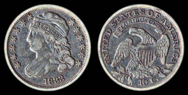USA 10 cents 1833