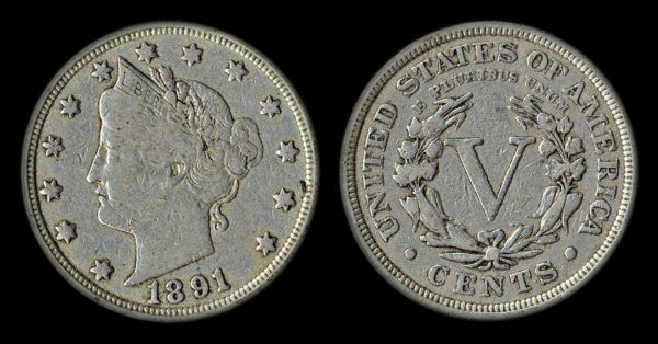 USA 5 cents 1891