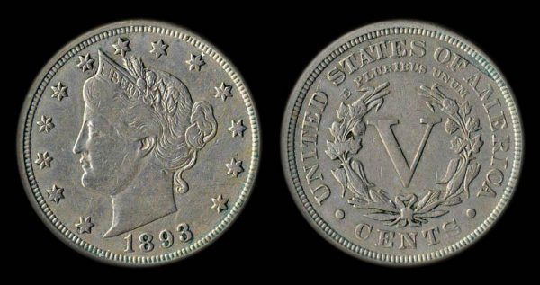 USA 5 cents 1893