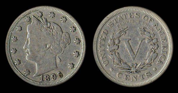 USA 5 cents 1896
