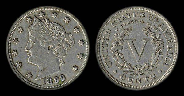 USA 5 cents 1899