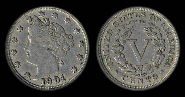 USA 5 cents 1901