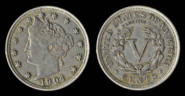 USA 5 cents 1904