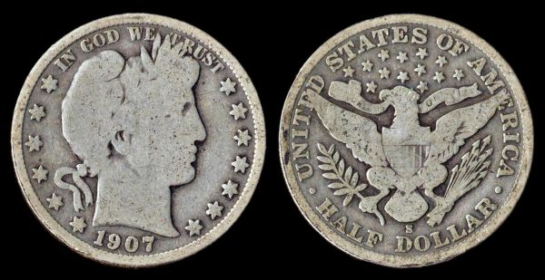 USA 50 cents 1907 S