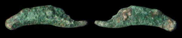 OLBIA, bronze dolphin, (circa 200 BC)