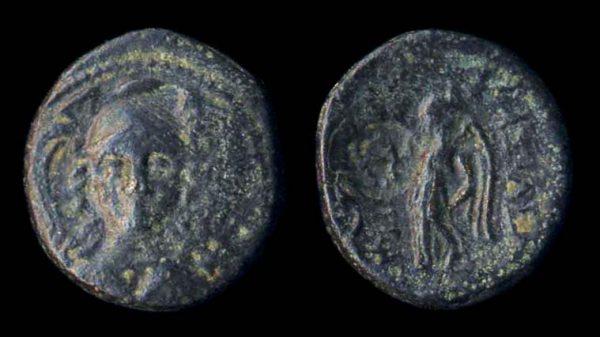 SELEUKID, Antiochos I, 280-261 BC, bronze minor with countermark