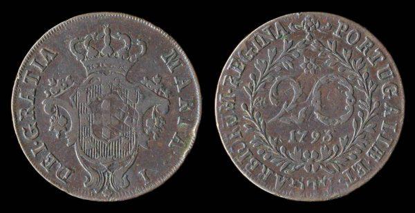 AZORES 20 reis 1795