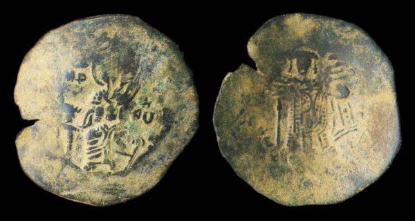BYZANTINE, Manuel I, 1143-1180 AD, billon aspron trachy, Constantinople mint