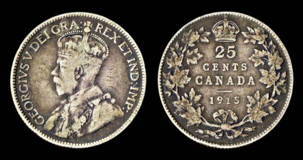 CANADA 25 cents 1915