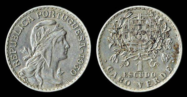 CAPE VERDE 1 escudo 1930