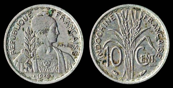 FRENCH INDOCHINA 10 cent 1939
