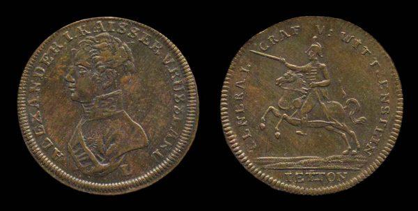 GERMANY, jeton for Russian Tsar Alexander I 1813
