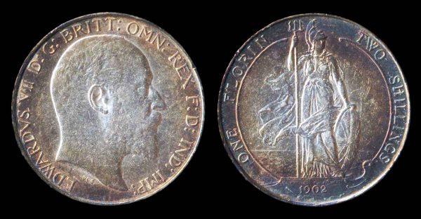 GREAT BRITAIN 1 florin 1902