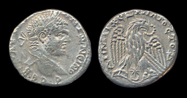 SELEUCIS & PIERIA, ANTIOCH, Caracalla, 198-217 AD, silver tetradrachm