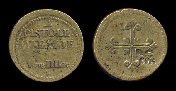 ITALY, coin weight 18th century