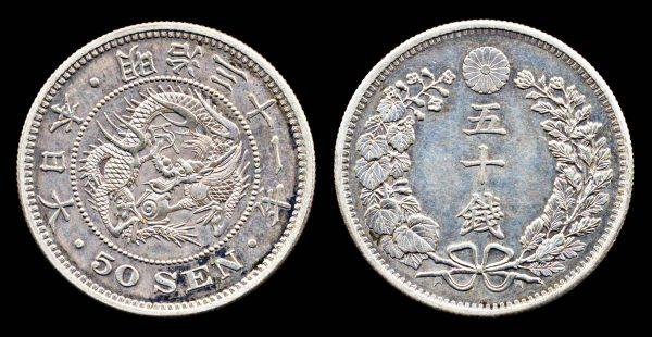 JAPAN 50 sen M-31 (1898 AD)
