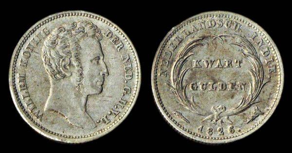 NETHERLANDS INDIES quarter gulden 1826