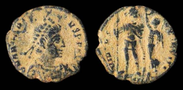 ROMAN EMPIRE, Arcadius, 383-408 AD, centenionalis, Constantinople mint