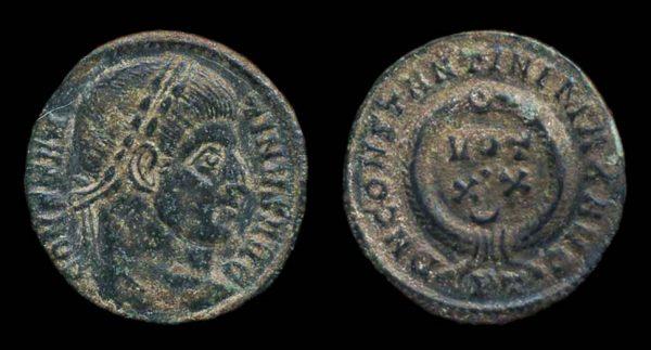 ROMAN EMPIRE, Constantine I, 307-337 AD, centenionalis, Ticinum mint