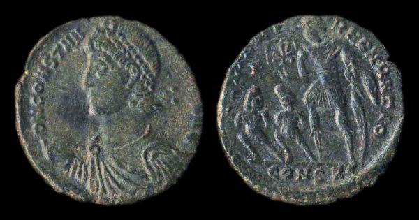 ROMAN EMPIRE, Constantius II, 337-361 AD, light maiorina, Constantinople mint