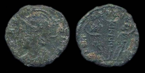 ROMAN EMPIRE, Constantine I, 307-37 AD and later, reduced centenionalis, mint missing