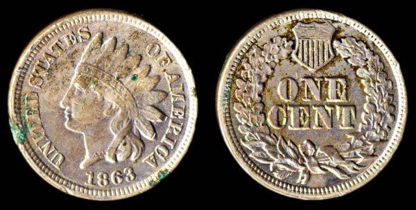 USA 1 cent 1863