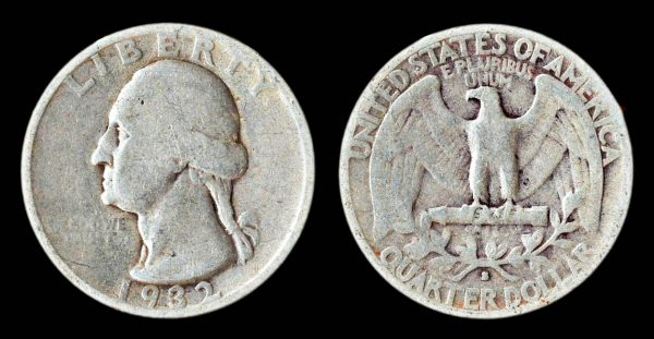 USA 25 cents 1932 S