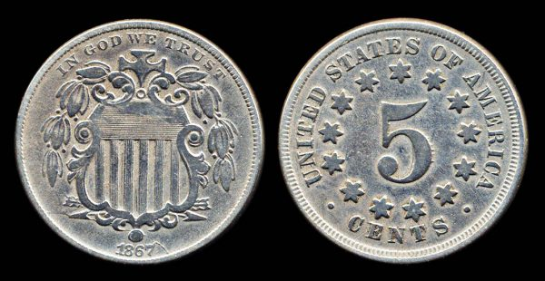 USA 5 cents 1867