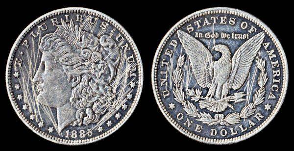USA 1 dollar 1885