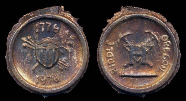 USA, OREGON, nickel splatter medal (1970s)