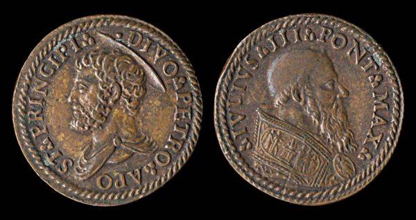 VATICAN, 20th century medallet of Julius III, 1550-55