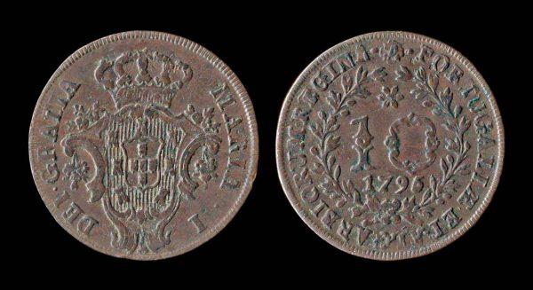 AZORES 10 reis 1795