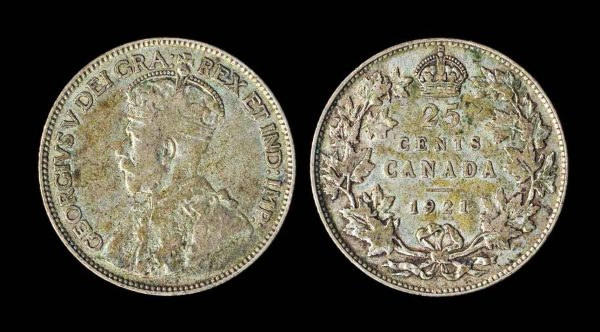 CANADA 25 cents 1921