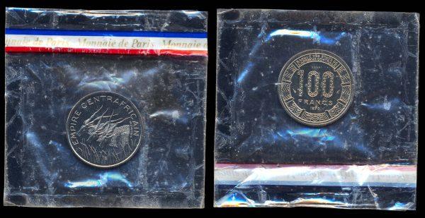 CENTRAL AFRICAN EMPIRE 100 francs 1978 ESSAI