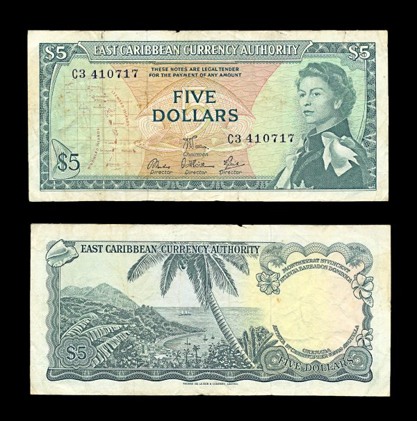 EAST CARIBBEAN STATES, 5 dollars, no date (1965), P14e