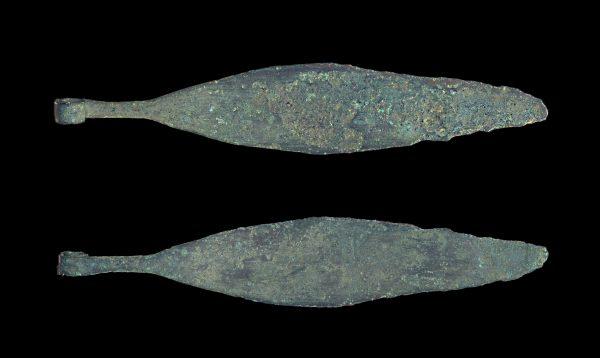 GREEK bronze razor circa 300-100 BC
