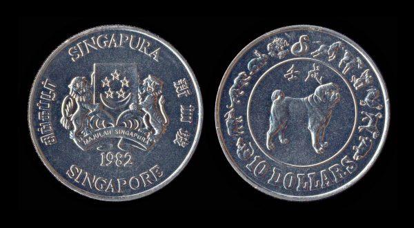 SINGAPORE 10 dollars 1982 Chinese New Year