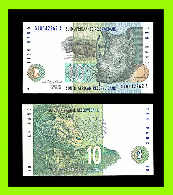 SOUTH AFRICA 10 rand (1993)