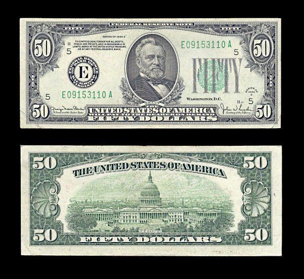USA 50 dollars 1934-D