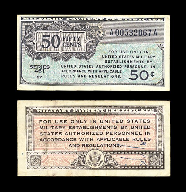 USA Military Payment Certificate 50 cents series 461