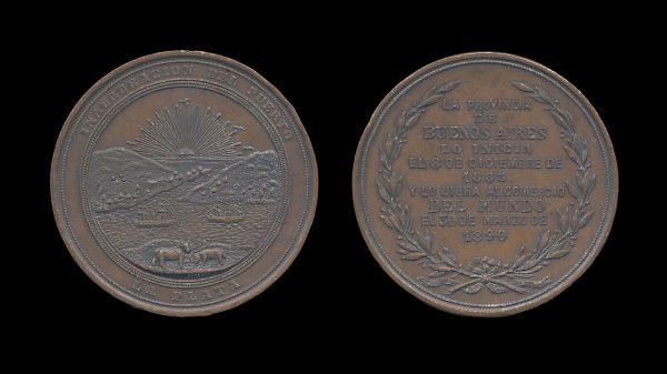 ARGENTINA bronze medal for the renovation of the port of La Plata 1899