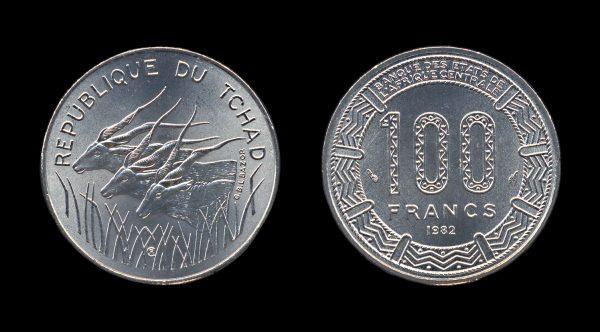 CHAD 100 francs 1982