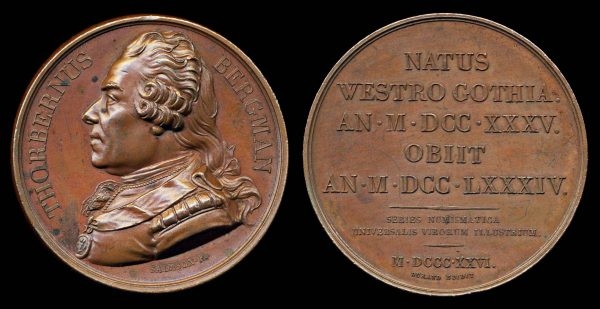 FRANCE bronze medal 1826 for a noted numismatist